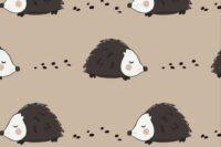 Elvelyckan Designe Jersey Hedgehog cappuccino