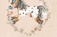 Lillestoff Mein Blumenpony Panel 1m
