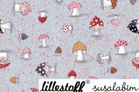 Lillestoff Susalabims Kleine Pilze rosa