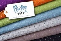 Albstoffe Plushy Dots blau