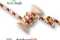 Albstoffe Kordel Big Mix bordeaux/senf