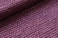 Stoffonkel Dotted line Jersey pflaume
