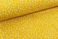 Stoffonle Dotties Jersey senf