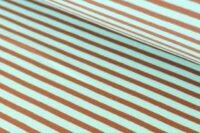 Stoffonkel Streifen Jersey aquamint karamell