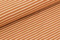 Stoffonkel Streifen Jersey karamell