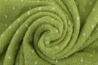 Albstoffe Plushy Dots grün