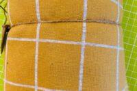 Stoffonkel Interlock Jacquard Karo curry/nevis 0,8m
