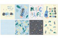 Katia Fabrics Ants&Music Kissenpanel