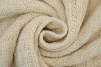 Albstoffe Woven Knitty wollweiß