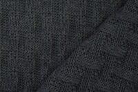 Albstoffe Woven Knitty dunkelgrau