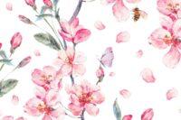 Lillestoff Cherry Bouquet Webware