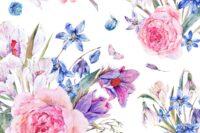 Lillestoff Blue Bouquet Webware