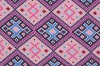 Albstoffe Magic Carpet marineblau/ rosa Strickjacquard