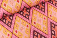 Albstoffe Magic Carpet curry/bunt Strickjacquard