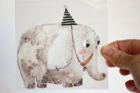 Halfbird Bügelbild Elefant