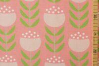 Die kleine Stoffmaus Happy Tulips warm pink Jersey