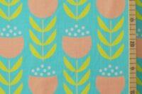 Die kleine Stoffmaus Happy Tulips aqua Jersey