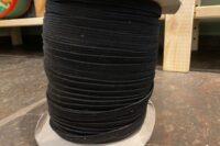 Gummilitze schwarz 6mm