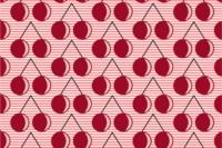 Lillestoff Geokirschen pink