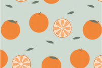 Lillestoff Orangen altgrün