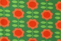 Die kleine Stoffmaus Happy Retroflowers grün Jersey