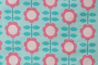 Die kleine Stoffmaus Happy Retroflowers mint Jersey