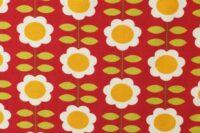 Die kleine Stoffmaus Happy Retroflowers rot Jersey