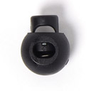 Union Knopf Kordelstopper schwarz 8mm