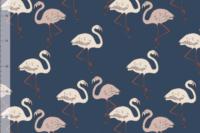 Elvelyckan Design Flamingo dunkelblau French Terry