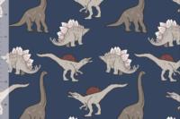 Elvelyckan Design Dino dunkelblau French Terry