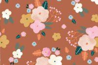 Katia Fabrics Viskose Best Friends Flowers