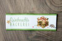 Acufactum Webetikett Weihnachtsbäckerei 20x65mm