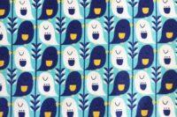 Kokka Mees&Mees Cute Bird blau Canvas