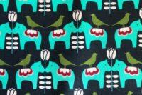 Kokka Mees&Mees Dala Love marineblau Canvas
