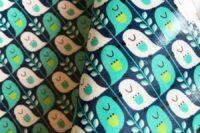 Kokka Mees&Mees Cute Bird jeansblau beschichtet